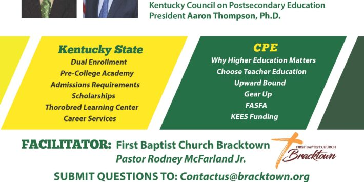 Kentucky State University Presents College 101: Access And Affordability