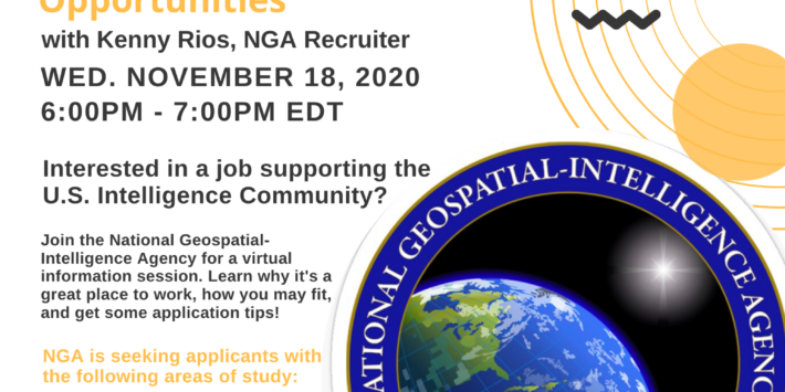 Diversity in the Intelligence Community: National Geospatial Agency (NGA) Career & Student Opportunities w/ Kenny Rios NGA Recruiter